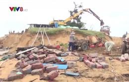 Triều cường xóa sổ khu đóng tàu vùng cửa biển Đà Diễn, Phú Yên