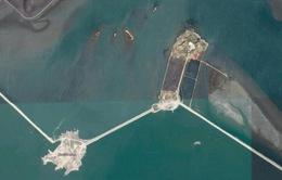 Nghi Triều Tiên xây đảo nhân tạo để phóng tên lửa