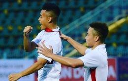 VIDEO: Bảo Toàn ghi bàn trực tiếp từ pha đá phạt góc vào lưới U21 Thái Lan