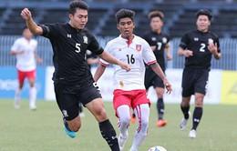Giải U21 Quốc tế 2017: U21 Thái Lan bất ngờ bại trận trước U21 Myanmar