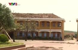 Khôi phục các công trình trường học sau bão số 10