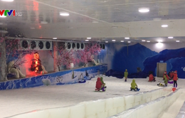Độc đáo mô hình trượt tuyết tại Hà Nội