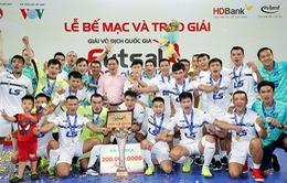 Giải Futsal VĐQG 2017: Thái Sơn Nam chính thức đăng quang, Sanatech Khánh Hòa giành vị trí Á quân