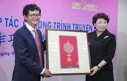 Tổng Giám đốc Đài THVN Trần Bình Minh vui mừng về kết quả hợp tác với Đài TH Quảng Tây