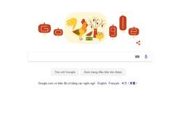 """Google """"thay áo"""" chào năm mới Đinh Dậu 2017"""