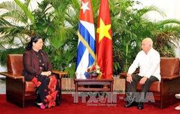 Phó Chủ tịch Quốc hội Tòng Thị Phóng hội kiến các lãnh đạo Cuba