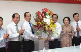 Đồng chí Nguyễn Thiện Nhân chúc mừng Sở Y tế TP.HCM nhân ngày 27/2