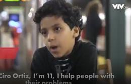 Quầy tư vấn tâm lý tình cảm đặc biệt của cậu bé 11 tuổi