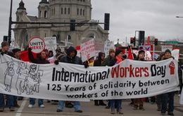 Người lao động châu Á tuần hành nhân ngày Quốc tế Lao động