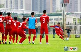 ẢNH: ĐT Việt Nam tích cực luyện tập chờ ngày tái đấu ĐT Afghanistan