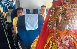 Hãng hàng không dành ghế hạng sang cho tượng thần