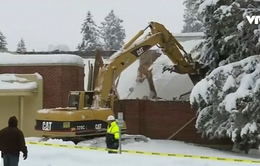 Mỹ: Tuyết rơi làm sập mái trường tiểu học