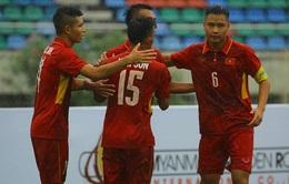 Thắng đậm U18 Philippines, U18 Việt Nam vươn lên dẫn đầu bảng B