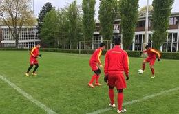 VIDEO: ĐT U20 Việt Nam chuẩn bị cho trận đấu gặp U19 Fortuna Dusseldorf