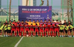 Ảnh: Có mặt tại Cheonan, U20 Việt Nam bắt đầu luyện tập ngay cho trận gặp U20 New Zealand