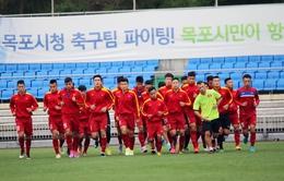 Ảnh: Buổi tập đầu tiên đầy hứng khởi tại Trung tâm Mokpo của U20 Việt Nam