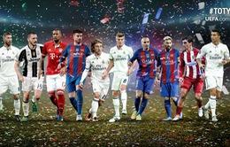 La Liga thống trị đội hình xuất sắc nhất năm 2016 của UEFA