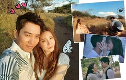 Hậu trường chụp hình cưới vui nhộn của cặp đôi Joo Sang Wook - Cha Ye Ryun