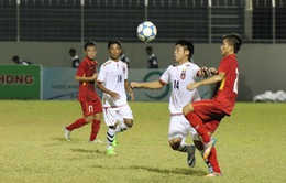 Giải U15 quốc tế 2017: Hòa U15 Myanmar ở lượt trận cuối, U15 Việt Nam giành vị trí á quân