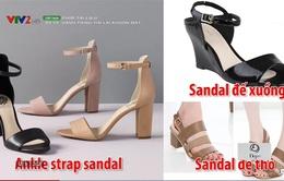Giày sandal đế trụ lên ngôi trong hè 2017