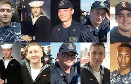 Mỹ tìm thấy 10 thủy thủ thiệt mạng trong vụ va chạm tàu