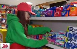 Cửa hàng bán sản phẩm làm từ vải nỉ tại Mỹ