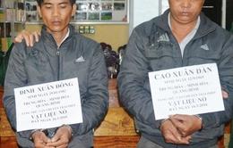 Hà Tĩnh: Bắt 2 đối tượng vận chuyển 9,5kg thuốc nổ trái phép
