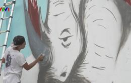 Vẽ tranh kêu gọi bảo vệ động vật hoang dã tại TP.HCM