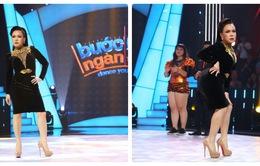 Việt Hương catwalk khoe vòng 3 trên sân khấu Bước nhảy ngàn cân (21h, VTV3)