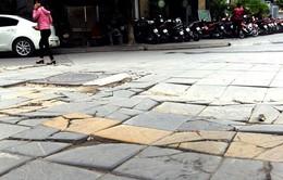 Mục sở thị công trường sản xuất đá tự nhiên lát vỉa hè của Hà Nội