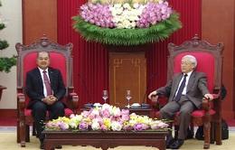 Tổng Bí thư tiếp Trưởng Ban Tuyên huấn Trung ương Lào