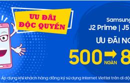 Viettel Store ưu đãi độc quyền 500.000-800.000 đồng cho Samsung Galaxy J2 Prime và J5 Prime