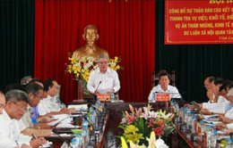 Công bố dự thảo báo cáo kết quả phòng chống tham nhũng tại Vĩnh Long