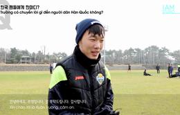 VIDEO Xuân Trường gửi lời chúc Tết trên sân tập của Gangwon FC