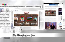 Báo chí quốc tế bình luận gì về chuyến công du châu Á của Tổng thống Mỹ Donald Trump?