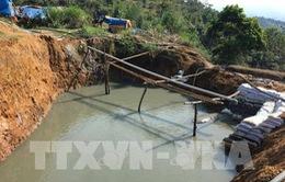 Vỡ đập chứa bùn thải ở Nghệ An: Do hành lang thoát lũ gia cố bằng đất