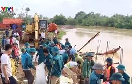 Vỡ đê ở Thọ Xuân, Thanh Hóa do mưa lũ