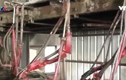 Thái Bình: Vỡ ống dẫn dầu tại Nhà máy Thép Shengli, 3 người bị bỏng