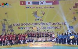 Các giải thưởng cá nhân và tập thể tại giải bóng chuyền nữ Quốc tế VTV Cup Tôn Hoa Sen 2017