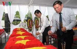 Quảng Trị: Đón hài cốt liệt sĩ hi sinh tại Lào về Việt Nam