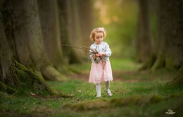 Bình yên bộ ảnh trẻ nhỏ dạo bước giữa thiên nhiên thơ mộng