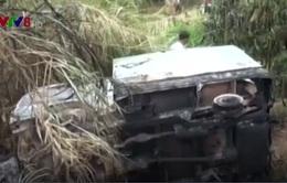 Phát hiện xe cháy dưới vực tại Lâm Đồng