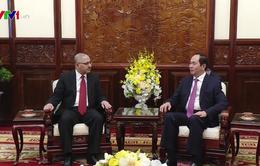 Chủ tịch nước Trần Đại Quang tiếp Đại sứ Ai Cập chào kết thúc nhiệm kỳ