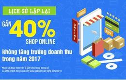 40% cửa hàng online không tăng trưởng trong năm 2017