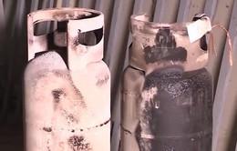 Hòa Bình: Phát hiện hàng trăm bình gas bị cắt tai, mài vỏ