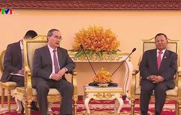 Bí thư Thành ủy TP.HCM Nguyễn Thiện Nhân thăm và làm việc tại Campuchia