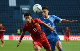 THỐNG KÊ: U23 Việt Nam bản lĩnh, U23 Uzbekistan công cường