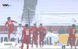 VIDEO: Ashurmatov đánh đầu mở tỷ số cho U23 Uzbekistan