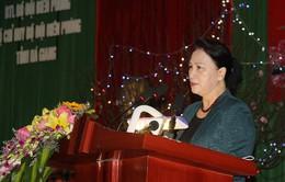 Chủ tịch Quốc hội làm việc với Bộ Chỉ huy biên phòng Hà Giang
