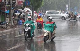 Không khí lạnh gây mưa, giảm nhiệt ở khu vực Trung Bộ